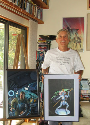 Dave with Paintings