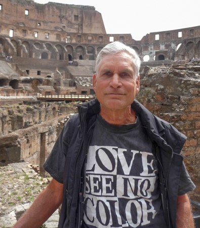 Dave at the Coliseum in Rome, May 1, 2013